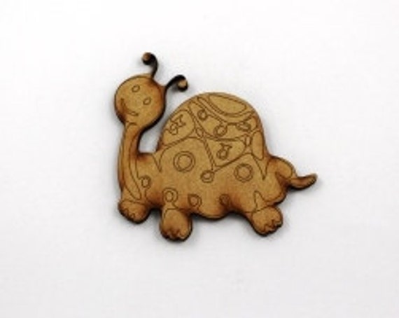 Lasercut Craft Wood Turtle – Set of 2. 75 mm Wide Turtles. Made of Craft Wood Perfect for Embellishing, Wood Crafts