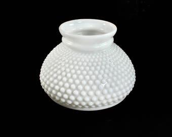Milk glass shade etsy vintage hobnail milk glass shade replacement hurricane white lamp light aloadofball Gallery