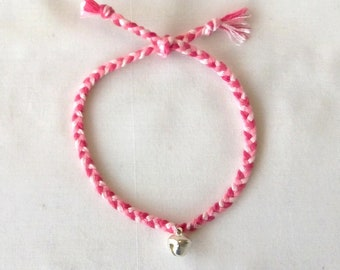 Pink Bell woven ankle bracelet hippie anklet Brasilda