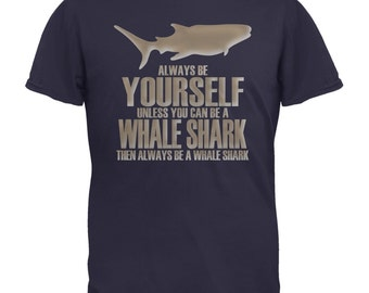 Always Be Yourself Whale Shark Navy Adult T-Shirt