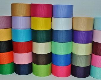 """66 yards(2y)-wholesale grosgrain ribbon solid color 7/8"""""""