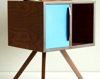 Mid Century Modern Bedside Table/ Nightstand/ American Walnut Wood/ Custom Made/ Handmade