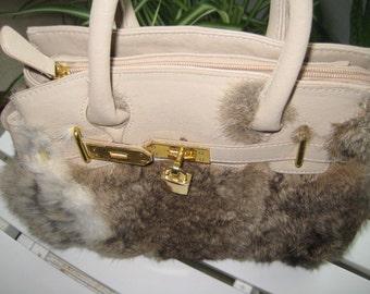 Fur Covered Handbag by Dith