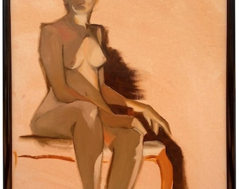 Oil on Canvas Study