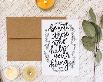"Love 4""x6"" Greeting Card - Rumi"