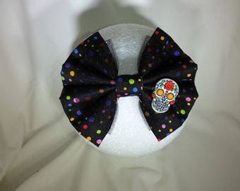 Day of the Dead Sugar Skull hair bow