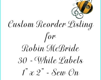 Custom Reorder Listing for Robin McBride