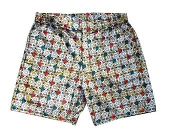 African unisex shorts with wax print // summer shorts; kitenge shorts yg9hXMlAh