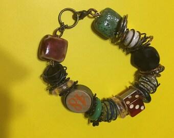 Mixed metals nostalgia bracelet