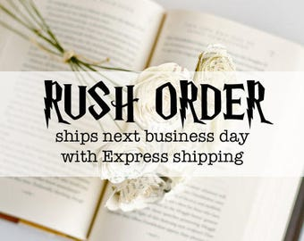 RUSH ORDER - Harry Potter Roses - Complete 7 Book Series Set - Anniversary Flowers - Birthday Present - Last Minute Gift - Express Shipping