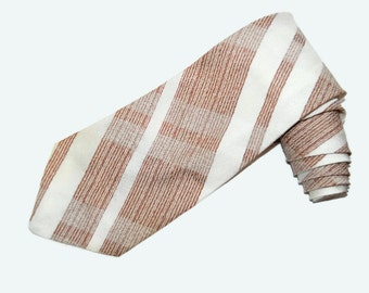 70's striped Trevira necktie