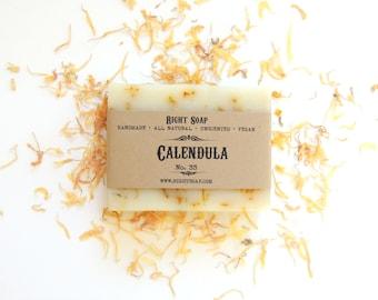 Calendula Soap - Handmade Soap - Natural Soap - Vegan Soap - Unscented Soap - Sensitive Skin Soap - Soap - Moisturizing Soap - Calendula