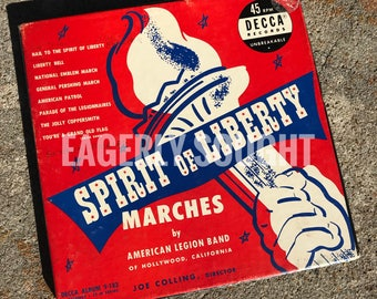 Spirit of liberty marches 45 RPM Decca records