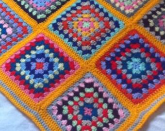 Rainbow Colour Crochet Baby Blanket - New baby gift - Newborn - Handmade