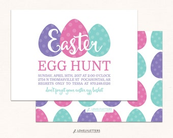 Easter Egg Hunt Invitation / Easter Invitation / Egg Hunt Invite / Digital / Easter Hunt Invites / Easter Egg Invitation / Easter Brunch