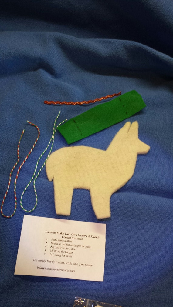 Do it yourself kit to make a llama christmas ornament from do it yourself kit to make a llama christmas ornament from maestroandfriends on etsy studio solutioingenieria Image collections