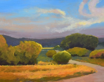 """Original Acrylic Abstract landscape Sugarbottom Trail Hike- 16"""" x 40"""""""