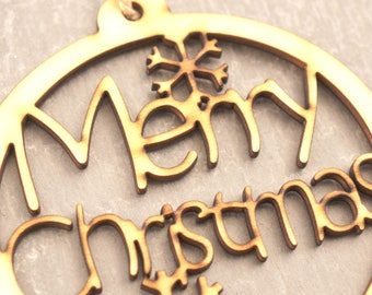 Christmas Tree Decoration, Laser Cut, Festive, Xmas, Decoration, Bauble, Merry Christmas, Holidays, Christmas Bauble, Festive Tree Dec