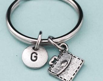 Briefcase keychain, briefcase charm, fashion, personalized keychain, intial keychain, intial charm, customized keychain, monogram