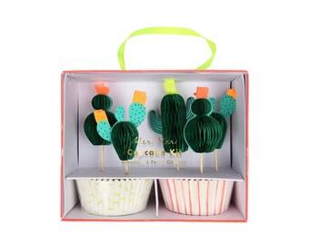 Cactus Cupcake Kit, Baking Liners and Toppers, Baking Supplies, Party Supplies, Meri Meri