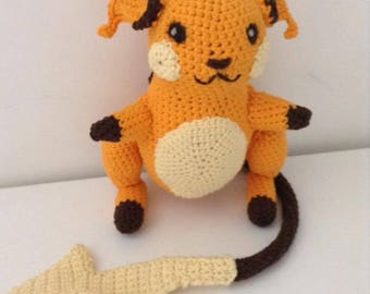Crochet Raichu Plush Amigurumi Pokemon