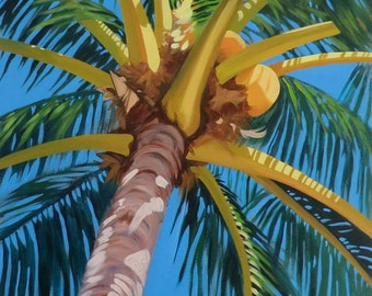 """Under the Palm Matted Giclee Print 14 1/4"""" x 19"""""""