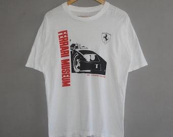 Vintage Ferrari Museum F40 Competizione T Shirt Size Medium / 1980s F1 Team  Ferrari Magneti Marelli