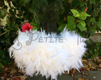 Feather tutu, custom tutu, feather dress, costume, dress up, feathers, tutu, tulle tutu, flower girl, flower girl dress, wedding, baptism