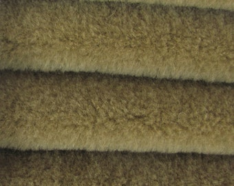 Quality WOOL1 - Wool  - 1/4 yard (Fat) in Intercal's Color 467S-Brownstone. A German Wool Fur Fabric for Teddy Bear Making, Arts & Crafts