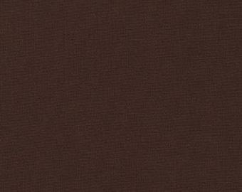 Coffee, Kona Cotton Fabric, Solid Brown Fabric, Robert Kaufman Fabric, Half Yard