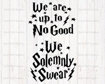 Harry Potter SVG File, File for Cricut, File For Silhouette, Sibling Shirt, I solemnly swear