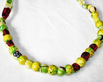 Beaded Fabric Necklace - Dakar Jewelry