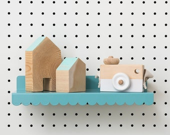 Mini Scalloped Shelf for PegBoard