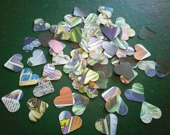 500 comicbook heart confetti, comic confetti, geek chic wedding, alternative wedding confetti alt wedding comic table scatters manga artwork