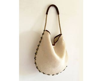 womens summer bag, suede jute tote bag, jute purse, womans handbag, jute summer bag, jute leather hobo, summer purse tote, purses and bags