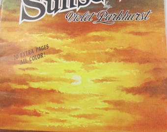 Walter Foster  Painting Sunsets by Violet Parkhurst vintage books from  70's used
