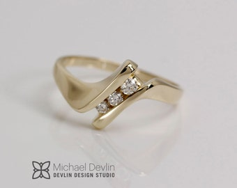 contemporary channel set ring