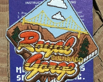 Royal Gorge Colorado Vintage Souvenir Travel Patch from Mountain States Specialties