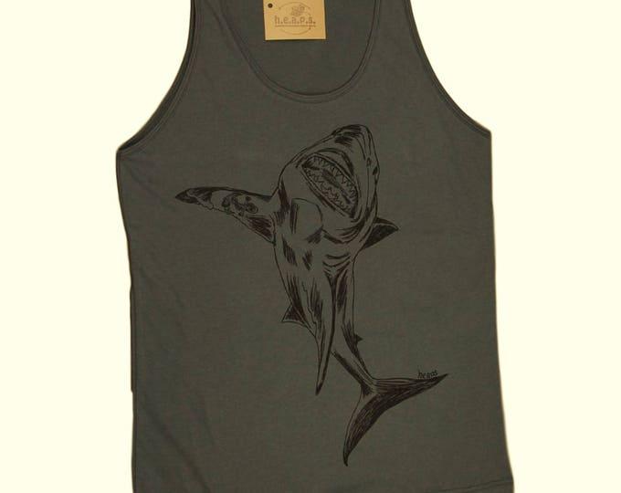 Shark Tank Top - American Apparel Tank for Men - Nautical Tank - Great White Shark Shirts - Gifts for Husband - Mens Gift - Boyfriend Gift