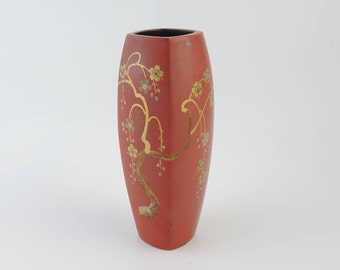 Made in Occupied Japan, Vintage Ceramic Vase, Sakura, Cherry Blossoms
