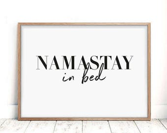 Superior Bedroom Wall Art, Namastay In Bed, Bedroom Posters, Modern Minimalist Art,  Scandinavian
