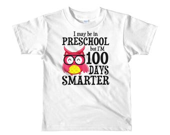 100 Days of School, 100 days smarter, 100 School Days, 100 Days of School shirt for Boys or Girls, 100th day of school shirt, 100 days tee