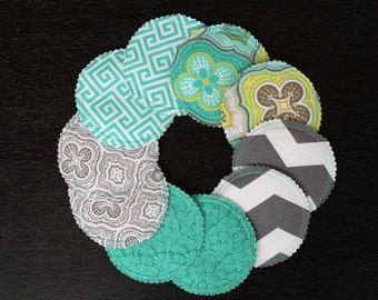 Organic Nursing Pads w Bamboo and PUL/ 10 pads/ COMPLIMENTARY SHIPPING