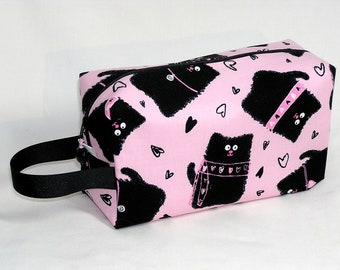 Smudgy Cats on Pink Project Bag