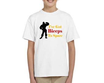 I've Got Biceps To Spare - Gaston Shirt - Beauty And The Beast - Disney Shirt - Disney Shirt for Boy's - Disney Kids Shirt