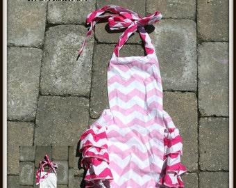 Pink Chevron Halter Baby Girl Bodysuit!!!