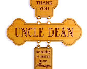 Wedding Officiant Gift, Uncle-Aunt-Brother Appreciation Gift- Wedding Thank You for Being Part of  Our Special Day Gift Personalized, DWO011