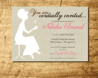Printable English Tea Party Invitation