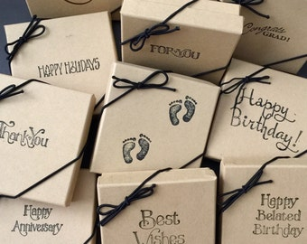 Add On Gift Box For Your Hand Stamped Gifts - Christmas / Birthday / Valentine's Day / Anniversary / Thank You Gift / Graduation / Newborn