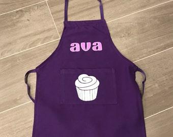 Personalized toddler apron, personalized art smock, apron,kids apron, pocket apron, kids gift